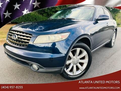 2005 Infiniti FX35 for sale at Atlanta United Motors in Buford GA