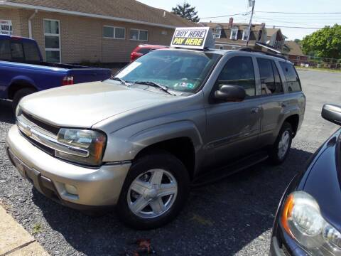 2002 Chevrolet TrailBlazer for sale at Fulmer Auto Cycle Sales - Fulmer Auto Sales in Easton PA