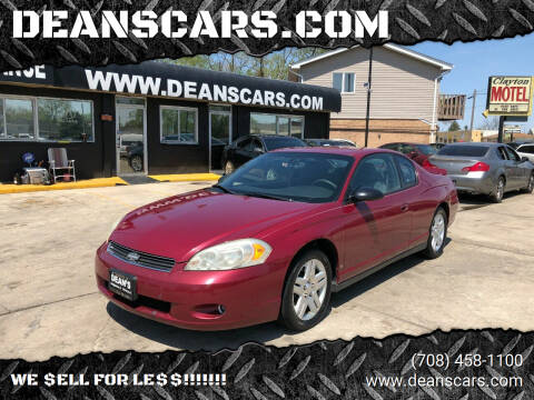 2006 Chevrolet Monte Carlo for sale at DEANSCARS.COM in Bridgeview IL