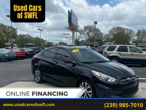 2017 Hyundai Accent for sale at Used Cars of SWFL in Fort Myers FL