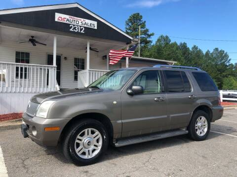 2003 Mercury Mountaineer for sale at CVC AUTO SALES in Durham NC