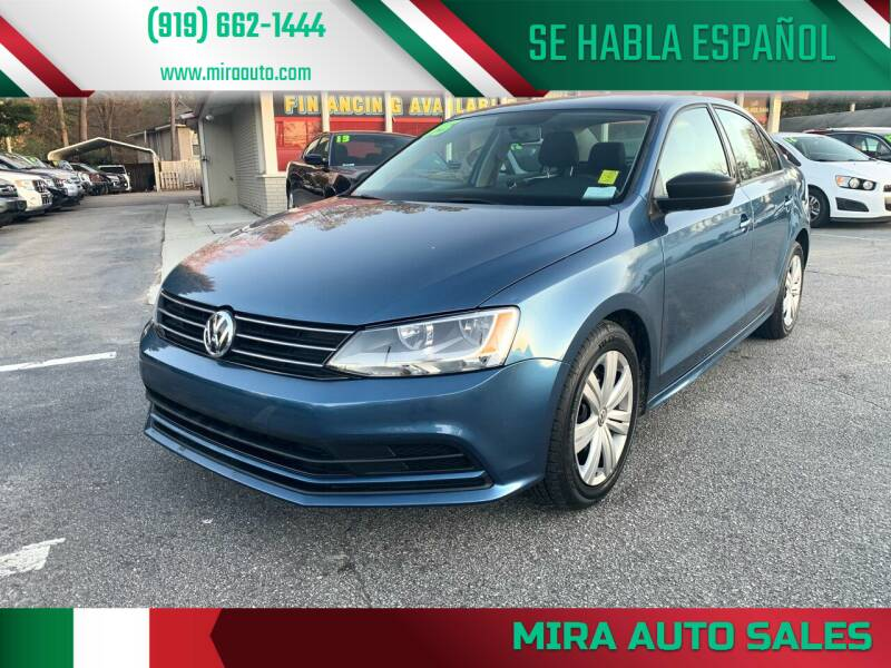 2015 Volkswagen Jetta for sale at Mira Auto Sales in Raleigh NC