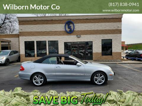 2007 Mercedes-Benz CLK for sale at Wilborn Motor Co in Fort Worth TX