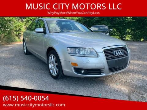 2005 Audi A6 for sale at MUSIC CITY MOTORS LLC in Nashville TN