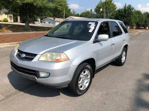2002 Acura MDX for sale at Diana Rico LLC in Dalton GA