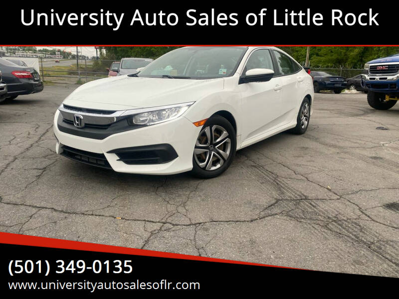 2016 Honda Civic for sale at University Auto Sales of Little Rock in Little Rock AR