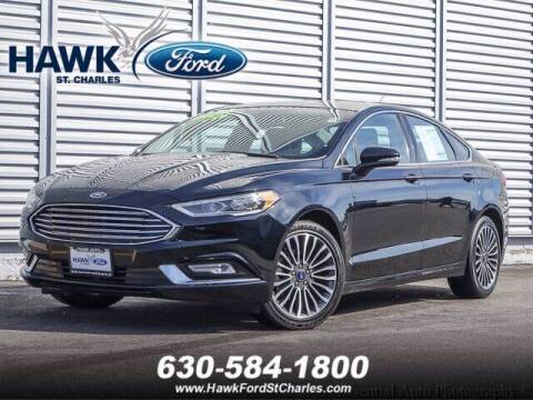 2018 Ford Fusion for sale at Hawk Ford of St. Charles in St Charles IL