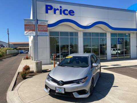 2017 Toyota Corolla iM for sale at Price Honda in McMinnville in Mcminnville OR