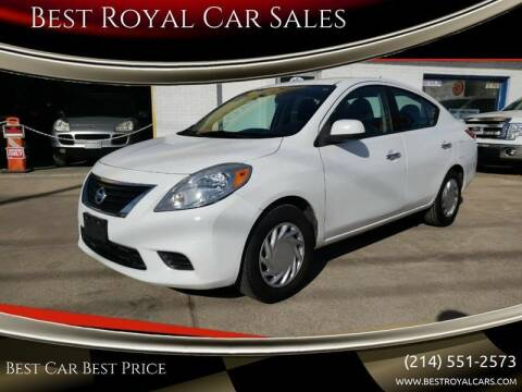 2014 Nissan Versa for sale at Best Royal Car Sales in Dallas TX