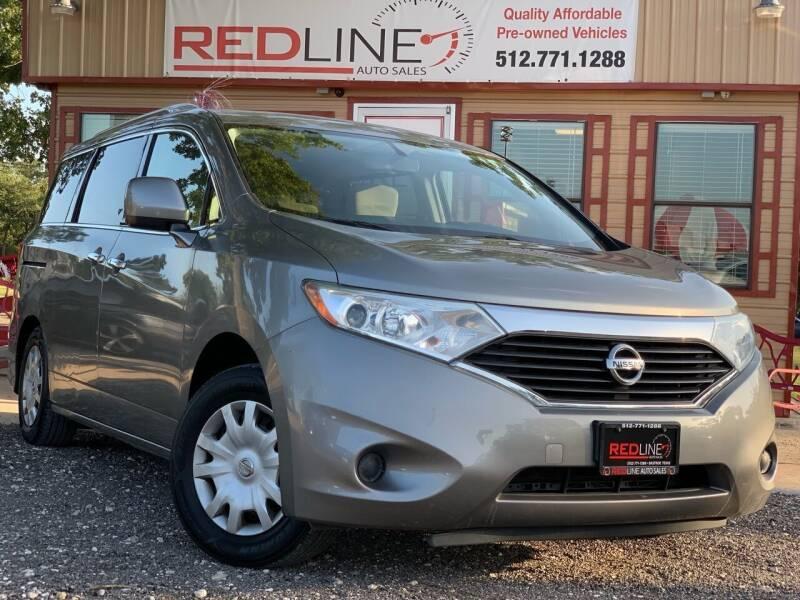 2012 Nissan Quest for sale at REDLINE AUTO SALES LLC in Cedar Creek TX