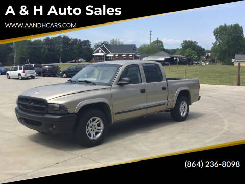 2002 Dodge Dakota for sale at A & H Auto Sales in Greenville SC