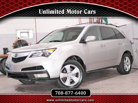 2011 Acura MDX for sale at Unlimited Motor Cars in Bridgeview IL