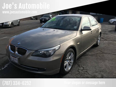2010 BMW 5 Series for sale at Joe's Automobile in Vallejo CA