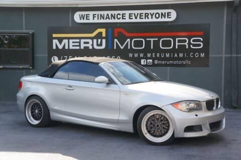 2009 BMW 1 Series for sale at Meru Motors in Hollywood FL