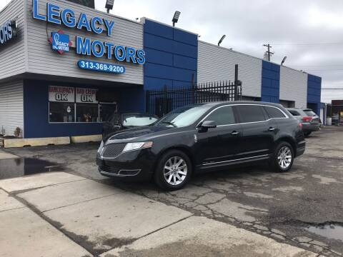 2014 Lincoln MKT Town Car for sale at Legacy Motors in Detroit MI