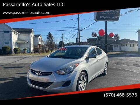 2012 Hyundai Elantra for sale at Passariello's Auto Sales LLC in Old Forge PA
