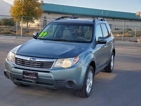 2009 Subaru Forester for sale at FRESH TREAD AUTO LLC in Springville UT