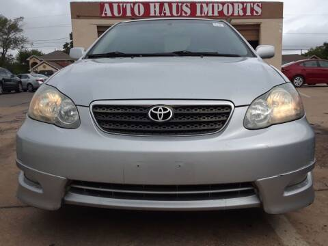 2007 Toyota Corolla for sale at Auto Haus Imports in Grand Prairie TX