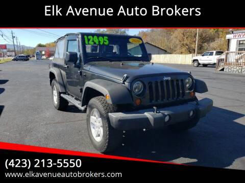 2010 Jeep Wrangler for sale at Elk Avenue Auto Brokers in Elizabethton TN