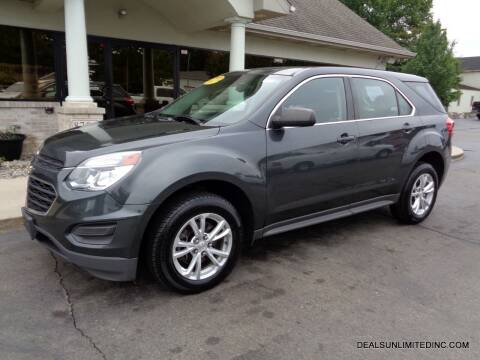 2017 Chevrolet Equinox for sale at DEALS UNLIMITED INC in Portage MI