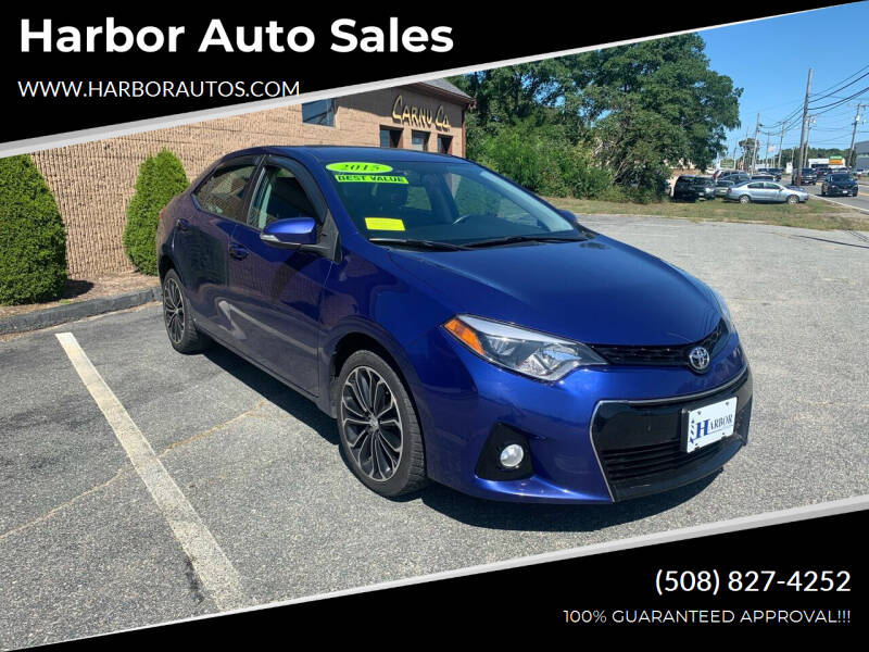 2015 Toyota Corolla for sale at Harbor Auto Sales in Hyannis MA