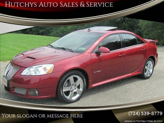 2008 Pontiac G6 for sale at Hutchys Auto Sales & Service in Loyalhanna PA