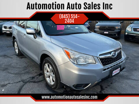 2014 Subaru Forester for sale at Automotion Auto Sales Inc in Kingston NY