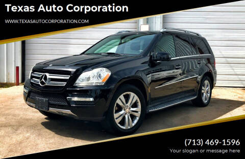 2012 Mercedes-Benz GL-Class for sale at Texas Auto Corporation in Houston TX