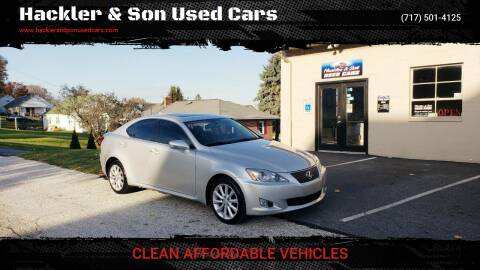 2010 Lexus IS 250 for sale at Hackler & Son Used Cars in Red Lion PA