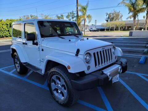 2018 Jeep Wrangler JK for sale at Auto Facil Club in Orange CA