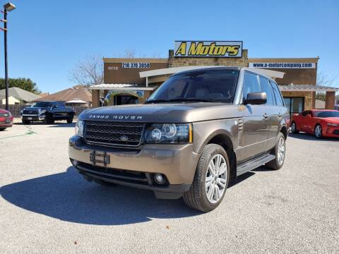 2012 Land Rover Range Rover for sale at A MOTORS SALES AND FINANCE - 10110 West Loop 1604 N in San Antonio TX