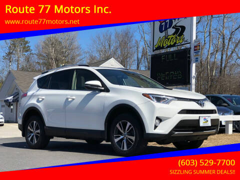 2016 Toyota RAV4 for sale at Route 77 Motors Inc. in Weare NH