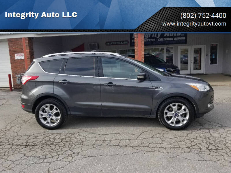 2015 Ford Escape for sale at Integrity Auto LLC - Integrity Auto 2.0 in St. Albans VT