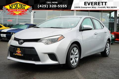 2014 Toyota Corolla for sale at West Coast Auto Works in Edmonds WA
