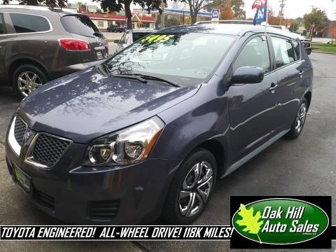 2009 Pontiac Vibe for sale at Oak Hill Auto Sales of Wooster, LLC in Wooster OH
