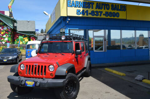 2010 Jeep Wrangler Unlimited for sale at Earnest Auto Sales in Roseburg OR