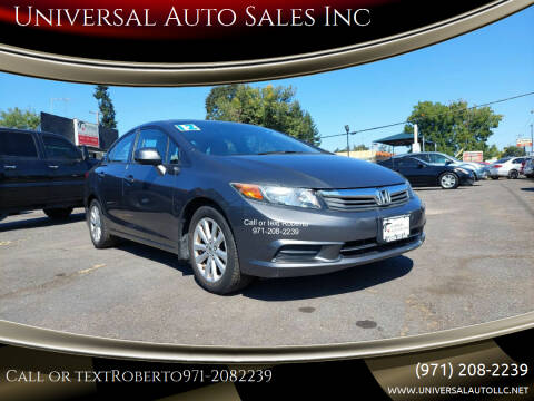 2012 Honda Civic for sale at Universal Auto Sales Inc in Salem OR
