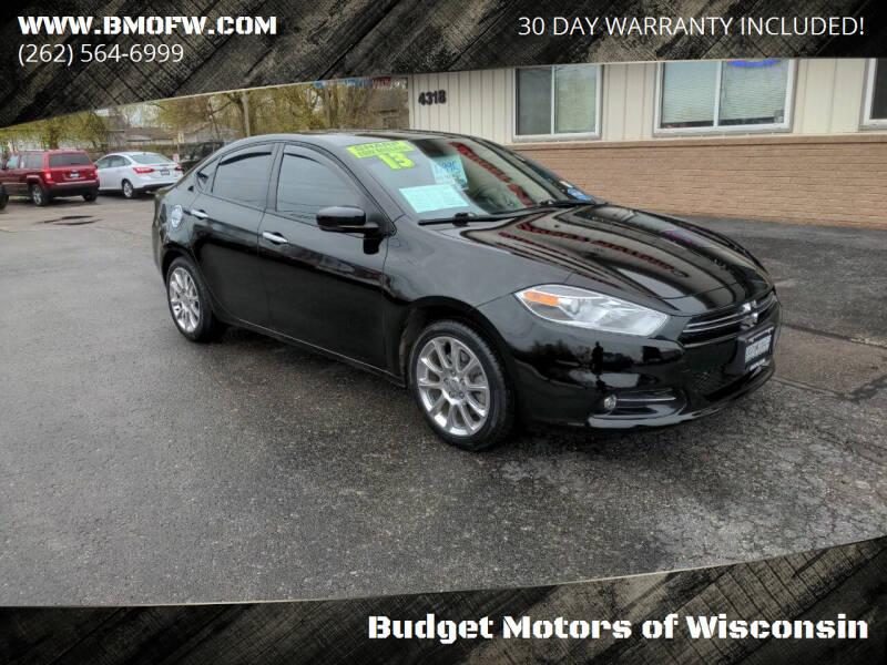2013 Dodge Dart for sale at Budget Motors of Wisconsin in Racine WI