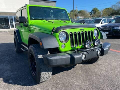 2014 Jeep Wrangler for sale at KAYALAR MOTORS in Houston TX