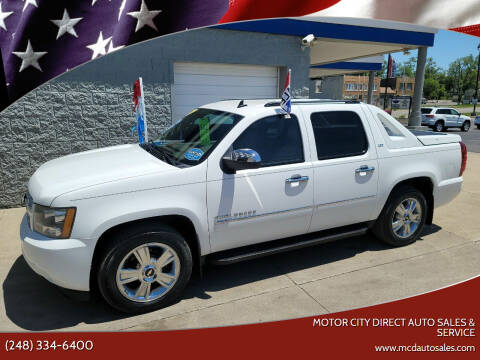2010 Chevrolet Avalanche for sale at Motor City Direct Auto Sales & Service in Pontiac MI
