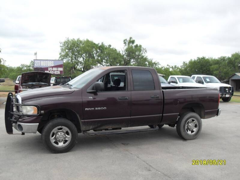 2005 Dodge Ram Pickup 2500 for sale at 277 Motors in Hawley TX