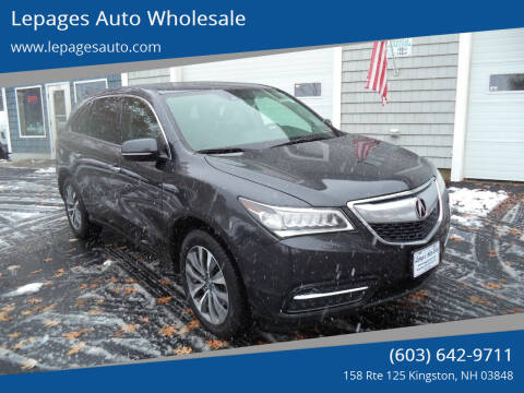 2014 Acura MDX for sale at Lepages Auto Wholesale in Kingston NH