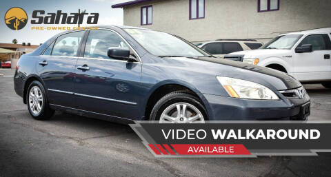 2006 Honda Accord for sale at Sahara Pre-Owned Center in Phoenix AZ