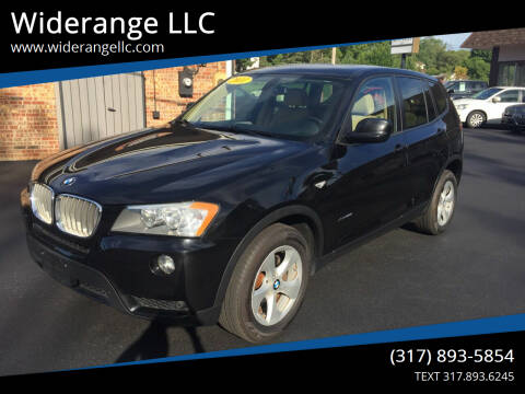 2011 BMW X3 for sale at Widerange LLC in Greenwood IN