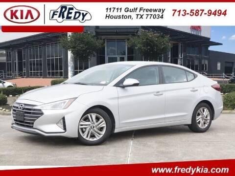 2019 Hyundai Elantra for sale at FREDY KIA USED CARS in Houston TX
