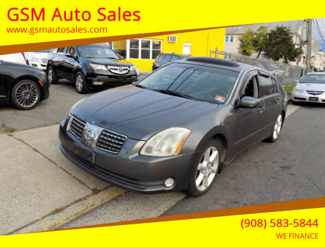 2006 Nissan Maxima for sale at GSM Auto Sales in Linden NJ