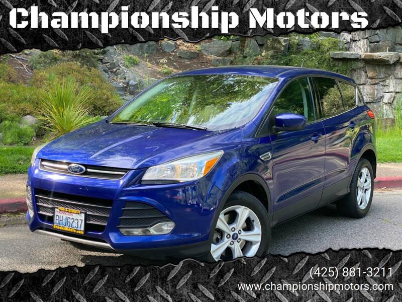 2013 Ford Escape for sale at Championship Motors in Redmond WA