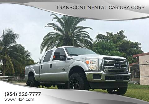 2015 Ford F-250 Super Duty for sale at Transcontinental Car USA Corp in Fort Lauderdale FL