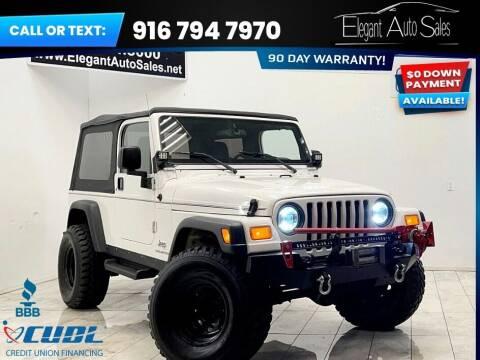 2004 Jeep Wrangler for sale at Elegant Auto Sales in Rancho Cordova CA