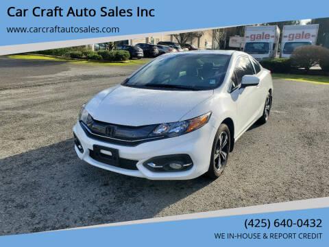 2015 Honda Civic for sale at Car Craft Auto Sales Inc in Lynnwood WA